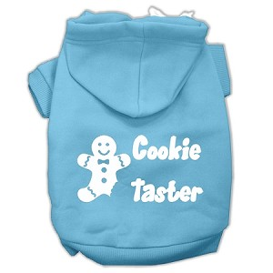 Cookie Taster Screen Print Pet Hoodies Baby Blue Size Lg (14)